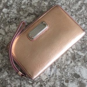 Marc by Marc Jacobs Rose Gold Q Wingman Clutch